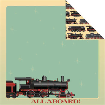 Reminisce Signature Series Train Double-Sided Cardstock 12''x12''