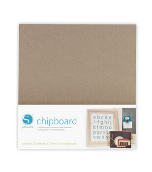 "Silhouette Chipboard 12""X12"" 25/Pkg-"