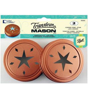 TransformMason Lids & Bands 2/Pkg-Copper Star