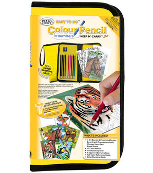 Big Kid's Choice Easy To Do Keep N' Carry Set-Colour Pencil By Numbers