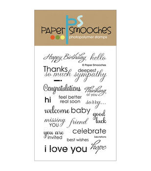 Paper Smooches Clear stamps Salutations