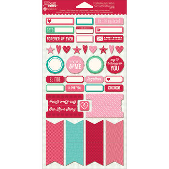 Heart Healthy Red Bean Soup Cardstock Stickers Labels