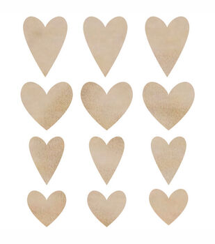 Hearts -Wood Flourishes
