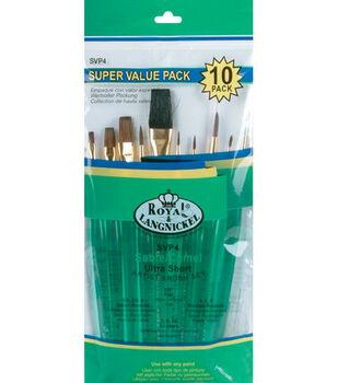 Brush Set Super Value Pack Sable/Camel 10/Pkg