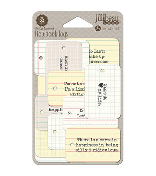 Jillibean Soup Soup Staples Funny 3 Sides Die-Cut Notebook Tags