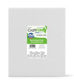 Floracraft 1-1/4''x10''x12'' Styrofoam Block-1PK/White