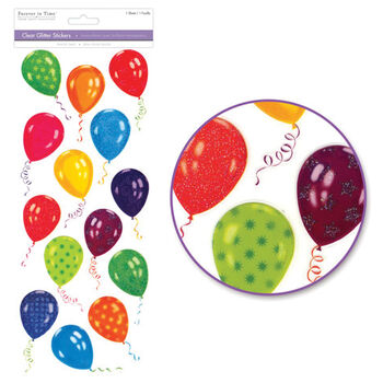 Multicraft Imports Glitter Everyday Stickers Party Balloons