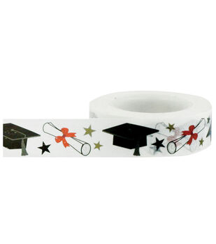 Little B Decorative paper Tape 15mmx15m-Mortar Boards