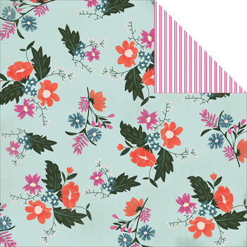 Carta Bella Wildflower Double-Sided Cardstock Paper Floral