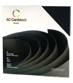 American Crafts 12''x12'' Cardstock Packs-60PK