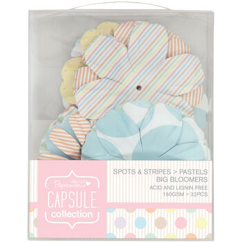Docrafts Papermania Capsule Big Bloomers Spots & Stripes Pastels