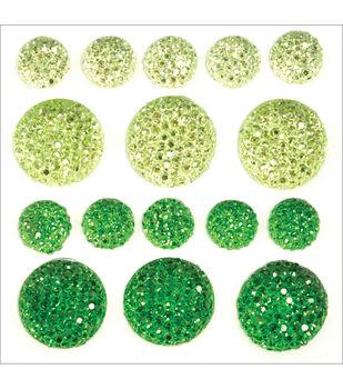 Sparklets Self-Adhesive Rhinestone Clusters-Fern