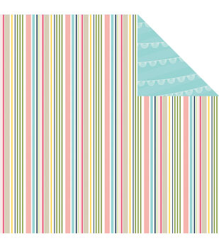 Imaginisce Spring Stripe - Welcome Spring Double-sided Cardstock