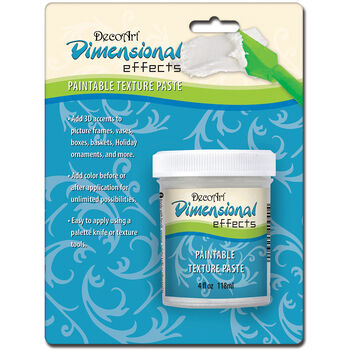 Deco Art Dimensional Effects Texture Paste Carded White