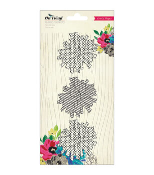 On Trend Fabric Flowers 3/Pkg-Pom-Poms