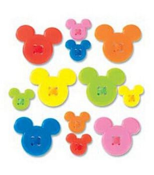 Disney Mickey Icon Adhesive Buttons