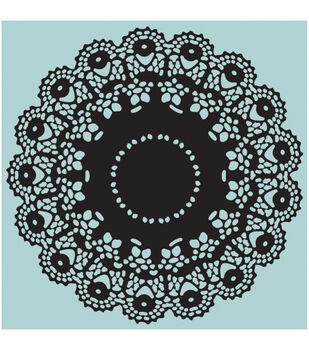 Sizzix Texture Fades A2 Embossing Folders 2/Pkg-Doily By Tim Holtz