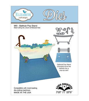 Elizabeth Craft Designs Pop It Up Bathtub Pop Stand Metal Dies