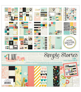Simple Stories I Am Paper Scrapbooking Kit