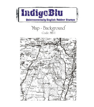 IndigoBlu Cling Mounted Stamp Map Background