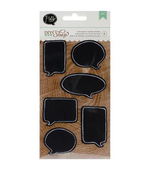 """DIY Shop Stickers 6.5""""X3.75"""" Sheet-Chalkboard Speech Bubbles"""