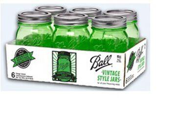 Ball Heritage Green Jar Quart 6 Pack