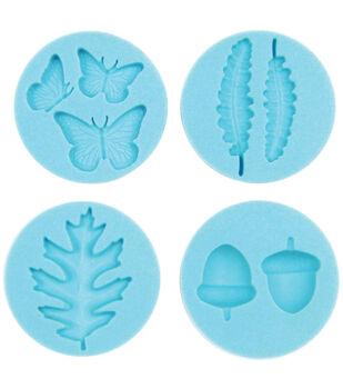 Martha Stewart Crafter's Clay Silicone Molds 4/Pkg-Woodland