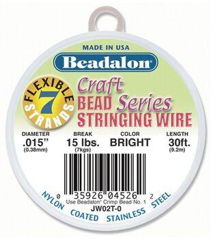 Beadalon Craft Series .015'' 7-Strand Stringing Wire-30ft/Brights