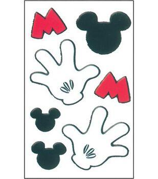 Disney Puffy Fuzzy Stickers-Mickey Icon