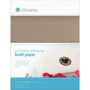 "Silhouette Printable Sticker Paper 8.5""X11"" 10/Pkg-Kraft"
