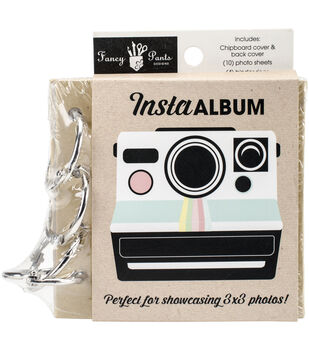 Fancy Pants Chipboard Insta Album With 10 Pages & 4 Rings 3''x3''