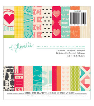 "American Crafts Paper Pad 6""X6"" 36/Pkg-Shimelle"