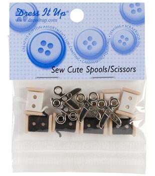 Dress It Up Embellishments-Sew Cute Spools & Scissors