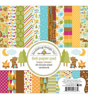 """Doodlebug Paper Pad 6""""X6"""" 24/Pkg-Happy Camper"""