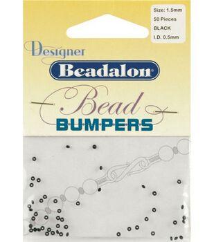Beadalon 1.5mm Bead Bumpers-50PK/Black or Clear