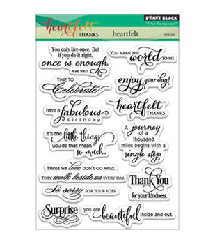 Penny Black Heartfelt Clear Stamps 5''x6.5''