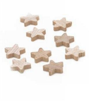 Wood Shapes-Star 3/4 x3/4 x3/16  25/Pkg