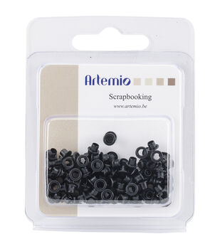 "Artemio .20"" Mini Eyelets 100/Pkg-Black"