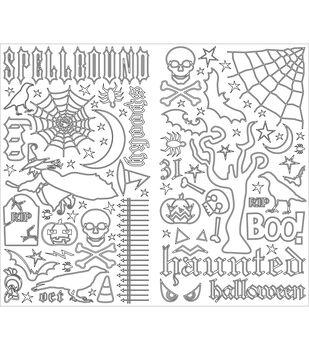 Making Memories Line Art Stickers-Spellbound