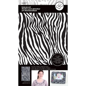 "Transfer Sheet 6""X9-3/4"" 1 Sheet/Pkg-Black/White Zebra"