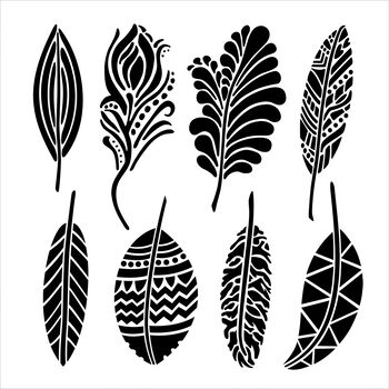 Crafter's Workshop Templates Fancy Feathers