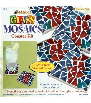 Stained Glass Mosaics Coaster Kit