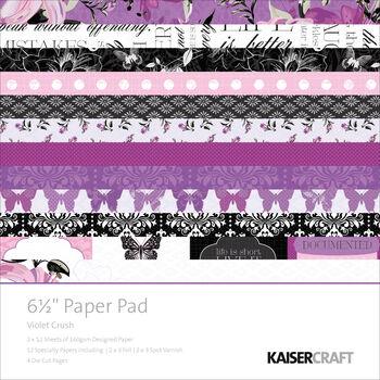 Kaisercraft Violet Crush Paper Pad 6.5''x6.5''