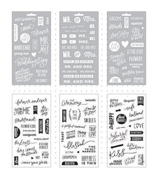 Me & My Big Ideas Our Wedding Day Clear Stickers