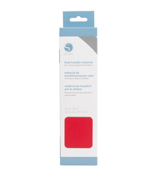 """Silhouette Smooth Heat Transfer Material 9""""X36""""-Red"""