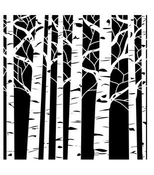 "12""X12""-Aspen Trees"