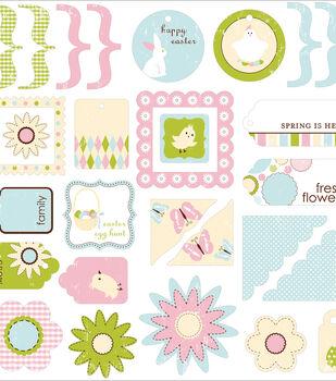 Making Memories Glitter Die-Cuts-56PK/Garden Party