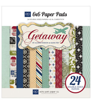 Echo Park Paper Getaway Paper Pad 6X6in