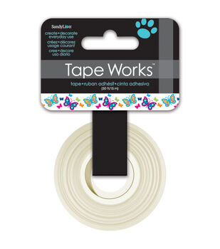 """Tape Works Tape .625""""X50'-Butterflies"""