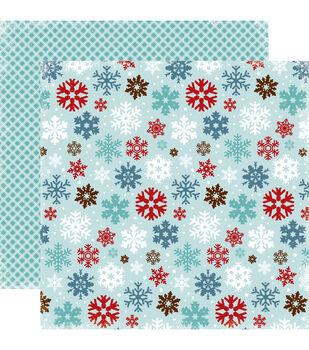 """All Bundled Up Double-Sided Cardstock 12""""X12""""-Large Snowflakes"""
